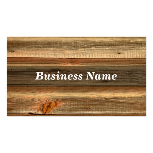 Wood double sided standard business cards pack of 100 for Firewood business cards