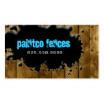 Wood Business Card Painting Fence