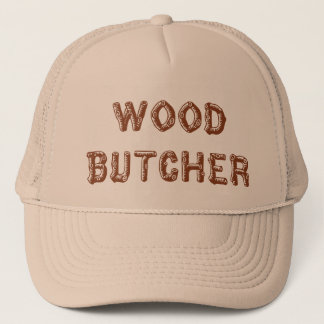 Wood butcher hat