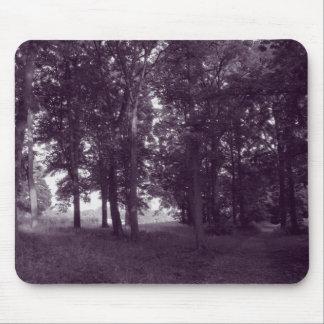 Wood, Bute Park Cardiff - Purple toned BW Mousepad