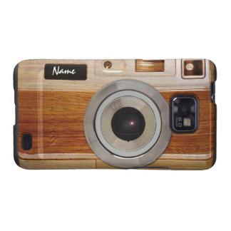 Wood Camera Case Samsung Galaxy S2 Cover