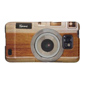 Wood Camera Case Samsung Galaxy SII Covers