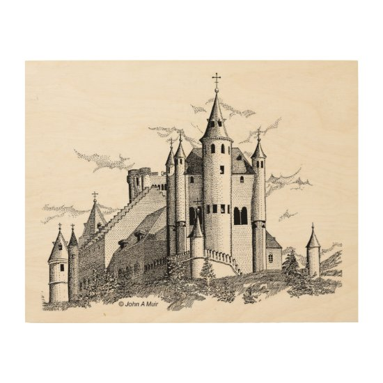 Wood Canvas - Alcazar - Castle - Black