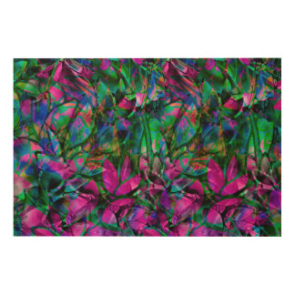 Wood Canvas Floral Stained Glass