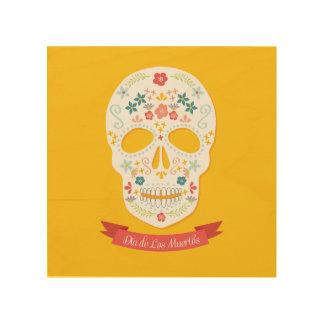 Wood Canvas Sugar Skull art print