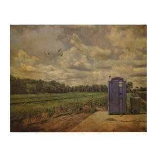 Wood Canvas-Throne Away From Home Wood Wall Art