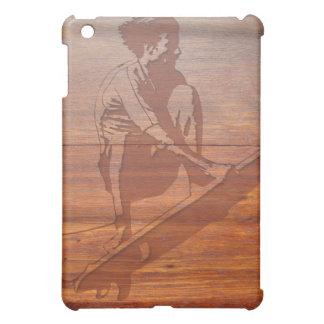Wood Carved Surfer iPad Mini Case