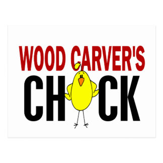 Wood Carver's Chick Postcard