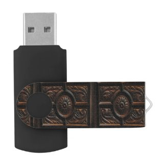 Wood Carving Abstract Swivel USB 2.0 Flash Drive