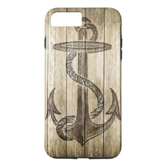 Wood Carving (Anchor) iPhone 7 Plus Case