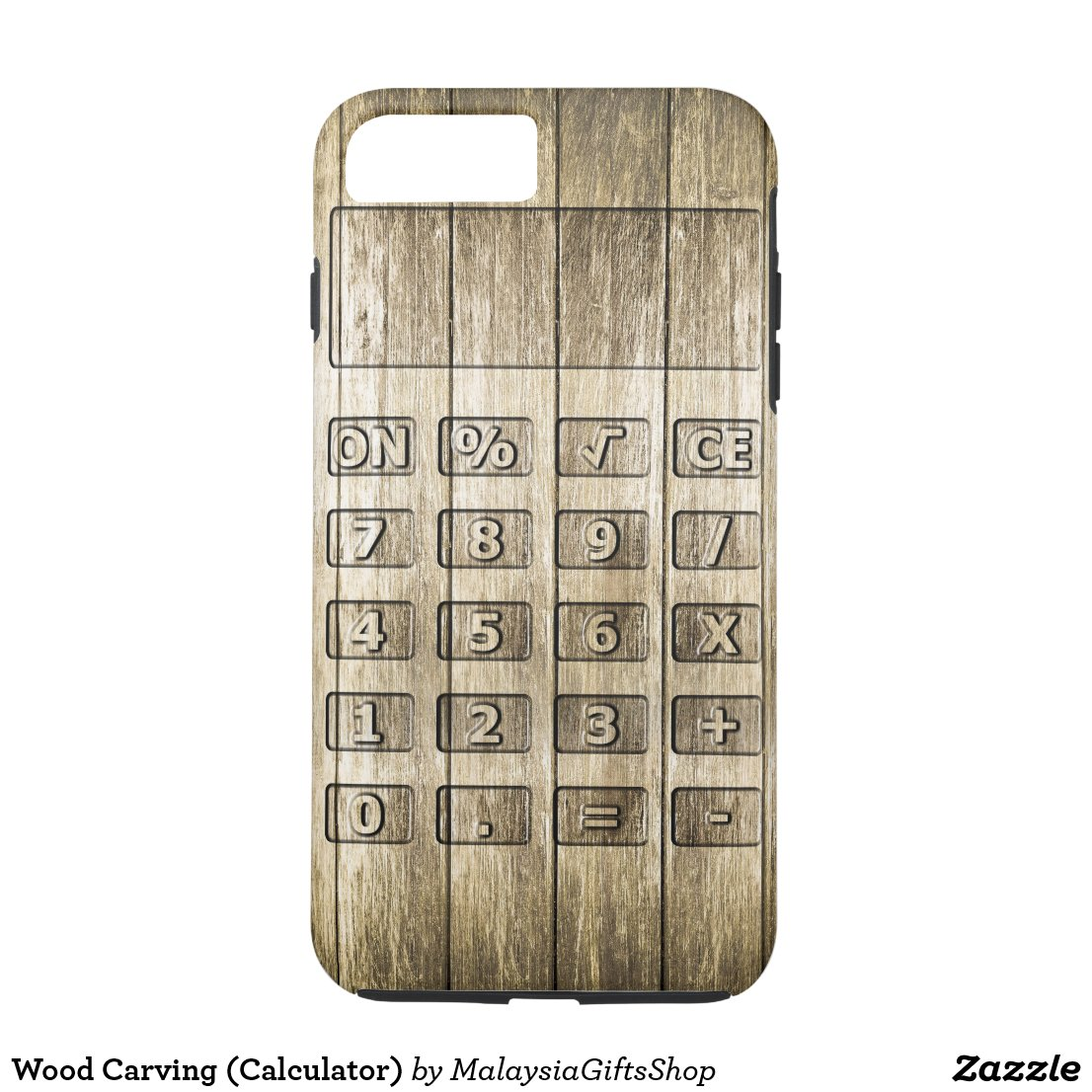 Wood Carving (Calculator) iPhone 7 Plus Case