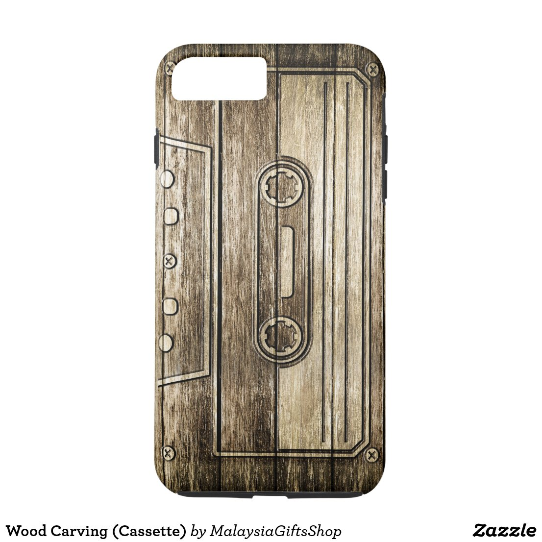 Wood Carving (Cassette) iPhone 7 Plus Case