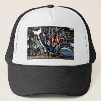 WOOD CARVING GEORGE TOWN TASMANIA AUSTRALIA TRUCKER HAT