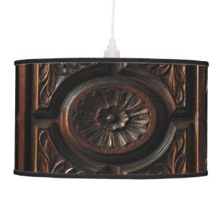 Wood Carving Hanging Pendant Lamps