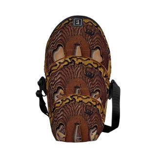 Wood carving messenger bag