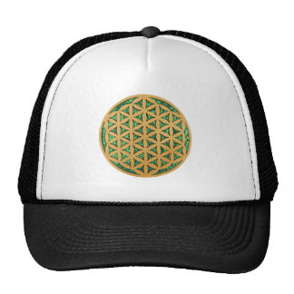 Wood Carving of Flower of Life Trucker Hats