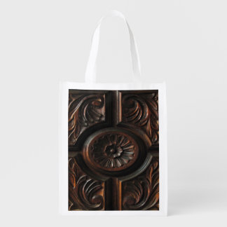 Wood Carving Reusable Grocery Bag