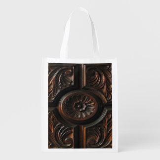 Wood Carving Reusable Grocery Bag