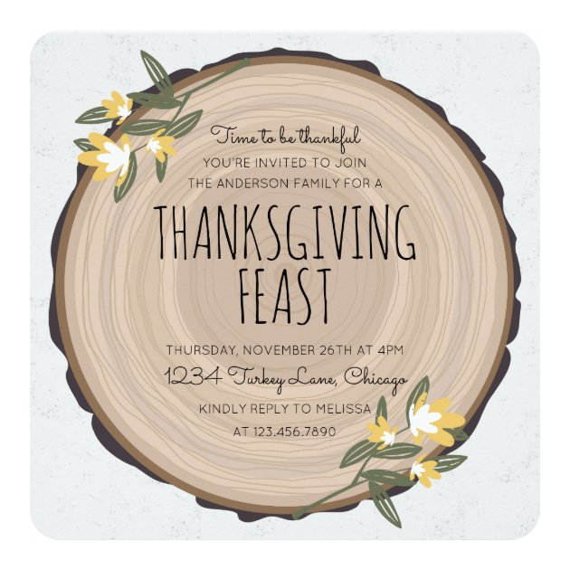 Wood Carving Thanksgiving Invite (back side)