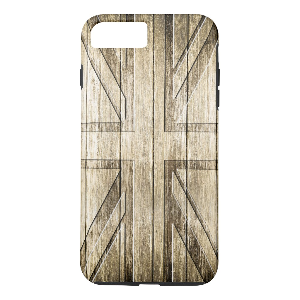Wood Carving (Union Jack Flag) iPhone 7 Plus Case