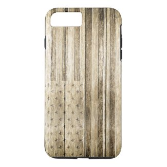 Wood Carving (USA Flag) iPhone 7 Plus Case