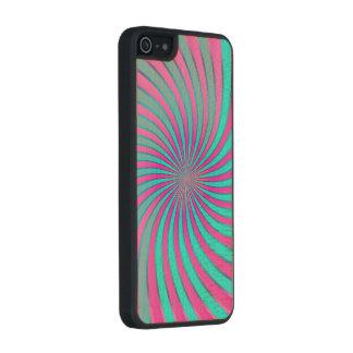 Wood Case iPhone 5/5s Spiral Vortex Carved® Maple iPhone 5 Case