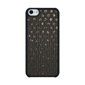 Wood Case iPhone 5C Black Sparkley Jewels Carved® Maple iPhone 5C Slim Case