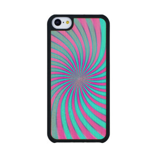 Wood Case iPhone 5C Spiral Vortex Carved® Maple iPhone 5C Slim Case