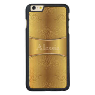 Wood Case iPhone 6 Plus Floral Abstract Damasks