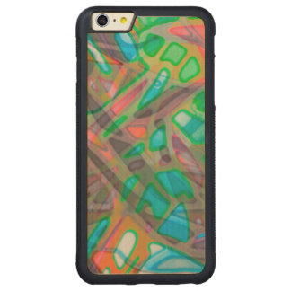 Wood Case iPhone 6 Plus Grunge Art Abstract