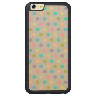 Wood Case iPhone 6 Plus Polkadots Carved® Maple iPhone 6 Plus Bumper Case