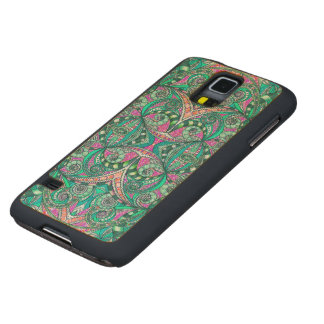 Wood Case Samsung G S5 Drawing Floral Zentangle Carved® Maple Galaxy S5 Case