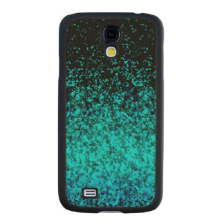 Wood Case Samsung Galaxy S4 Glitter Dust Carved® Maple Galaxy S4 Slim Case