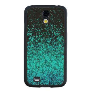 Wood Case Samsung Galaxy S4 Glitter Dust Carved® Maple Galaxy S4 Slim Case