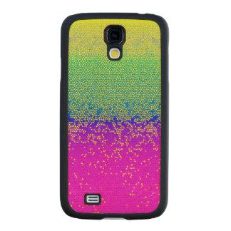 Wood Case Samsung Galaxy S4 Glitter Star Dust Carved® Maple Galaxy S4 Slim Case