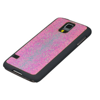Wood Case Samsung Galaxy S5 Glitter Star Dust Carved® Maple Galaxy S5 Slim Case