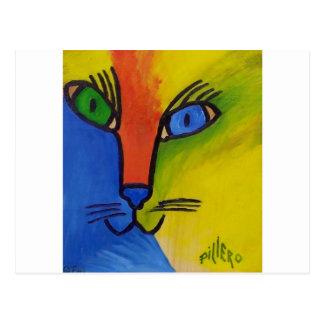 Wood Cat by Piliero Postcard