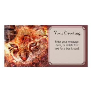 Wood Cat Custom Card Custom Photo Card
