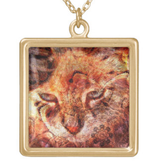 Wood Cat Necklace