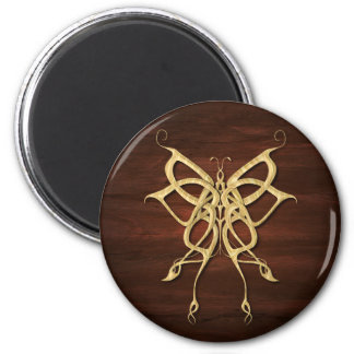 Wood Celtic Butterfly Magnet
