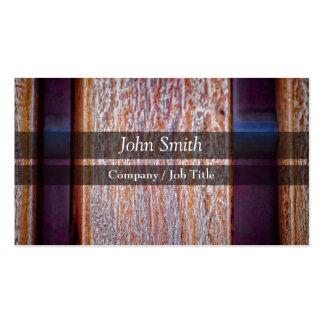 Wood Chair Bench Closeup busines card