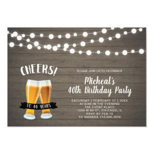 40th Birthday Party Invitations Announcements Zazzle