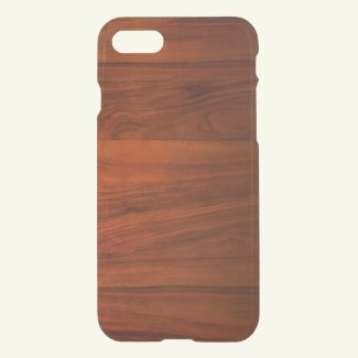 Wood Cherry iPhone 7 Clear Case