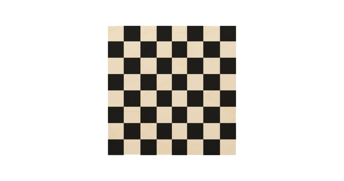 Wood Chess Or Checker Board 8 Quot By 8 Quot Wood Print Zazzle Com