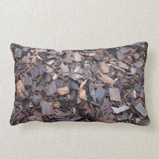 Wood chip double sided lumbar cushion