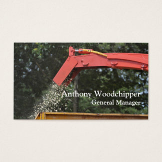 Wood chipping machine business card
