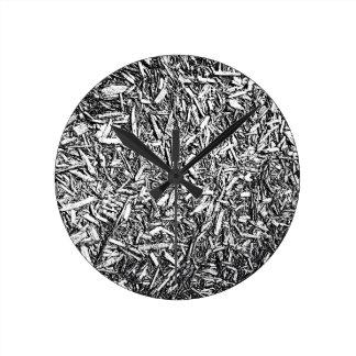 Wood Chips Round Wall Clocks