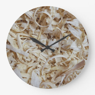 Wood Chips Novelty Clock for Woodworkers Blank