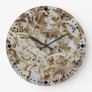 Wood Chips Novelty Clock for Woodworkers w/Minutes