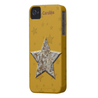 Wood Chips Star for Wood Turners or Workers Custom iPhone 4 Cases
